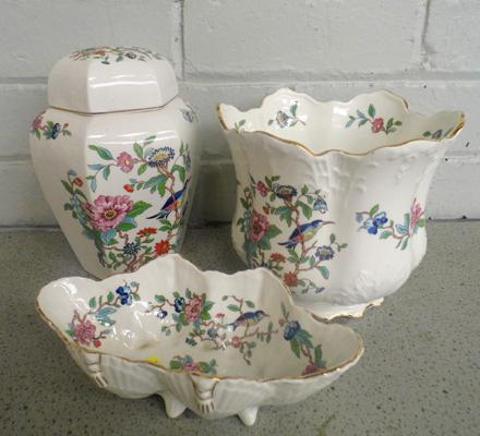 Three pieces of Aynsley, Pembroke pattern - no damage found