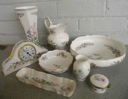 Selection of Aynsley 'Wild Tudor', incl. clock - 8 pieces