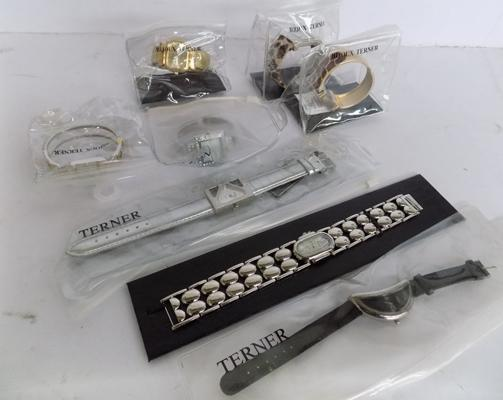 Collection of cased designer watches by Terner - London - Bijoux series