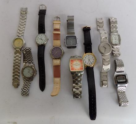 Collection of 10 gent's watches