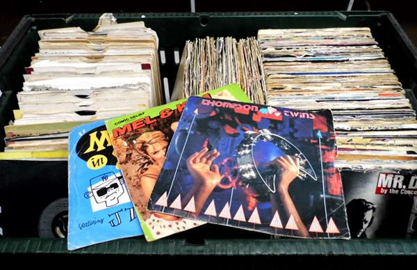 "1980's 7"" singles - total of 270 mostly with picture sleeves"