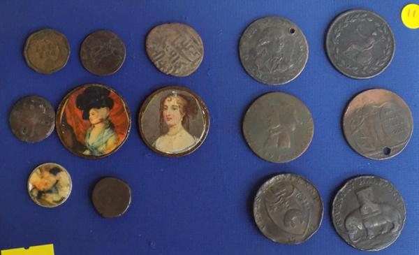 Collection of tokens + coin oddities
