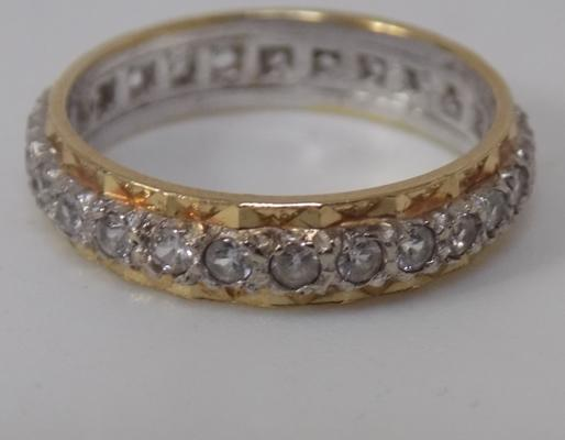 9ct Gold full eternity ring size M
