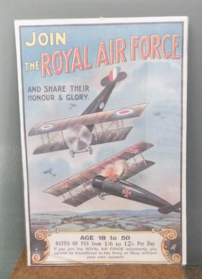 'Join the RAF' poster