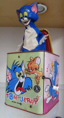 Vintage Tom & Jerry musical Jack in the Box - at fault