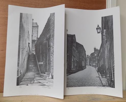 Two limited  edition Stuart Walton signed prints of Main Street Haworth, 101/250 & 149/250