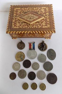 Selection of coins, medals & medallions