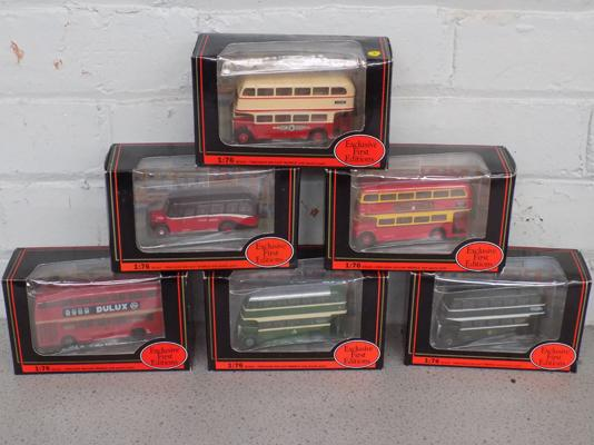 6x First Edition buses-mint condition-boxed