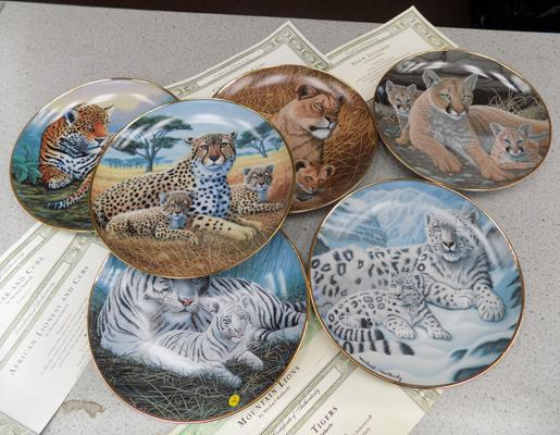 Full set of Franklin mint Ltd edition animal plates by Michael Matherley