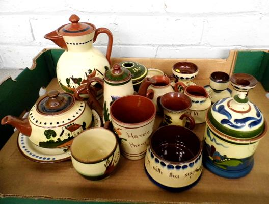 Selection of Torquay pottery