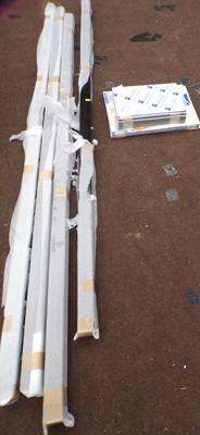 4 x 2.2m sign pole and alloy composite sheets