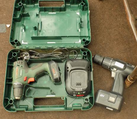 Bosch battery drill W/O and one other W/O