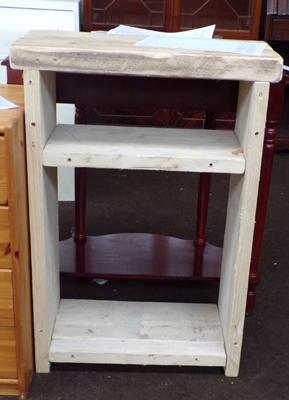 Solid wood butchers slab style work bench