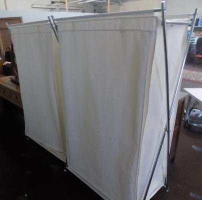 Two canvas wardrobes