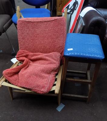 Retro stool & chair for upcycling