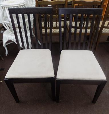 2 dining chairs - dark wood