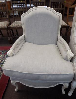 Reproduction style bedroom chair