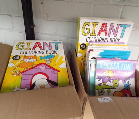 2 boxes of new colouring books