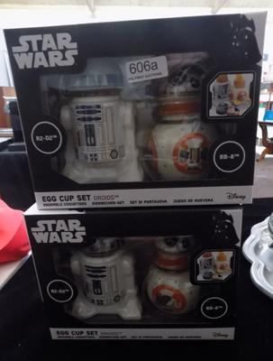 2x Funko Star Wars egg cup sets