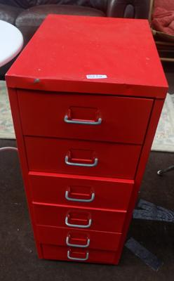 6 Drawer small filing cabinet