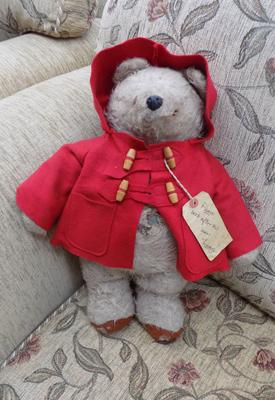 Vintage 1972 Gabrielle Paddington Bear stuffed toy with age related marks
