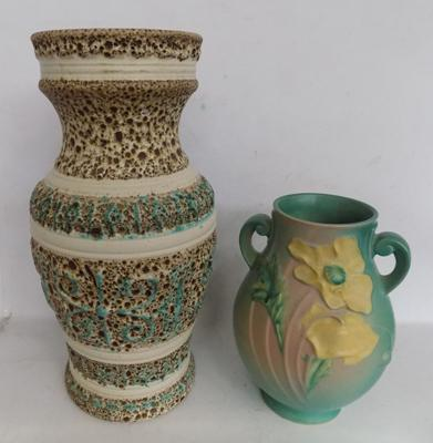 2x Vases 15 inches & 9.5 inches high