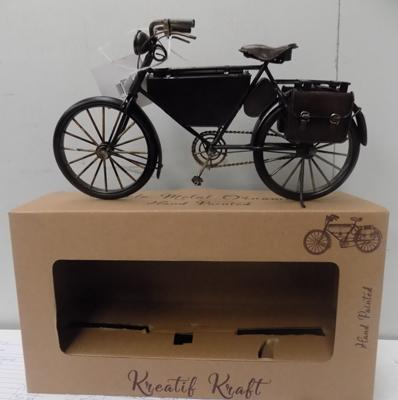 Tinplate hand painted bicycle