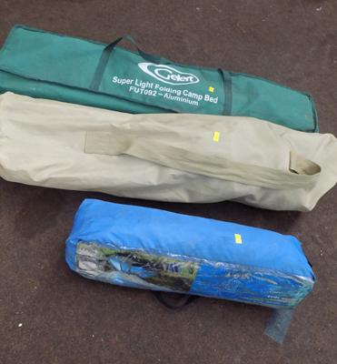 Camping gear, unchecked, incl. folding chairs + 2 person dome tent