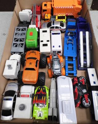 Box of toy cars
