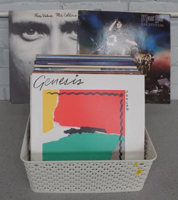 Box of assorted LPs, Meat Loaf, Genesis etc...