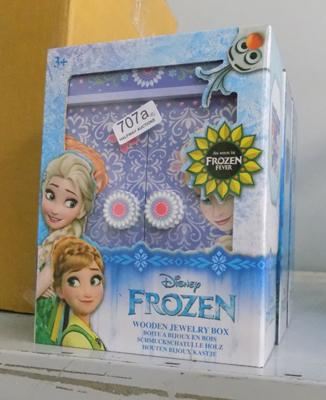 4x Frozen wooden jewellery boxes