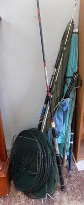 Large selection of fishing rods etc
