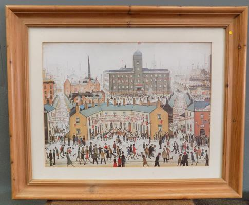 "Large framed L.S Lowry print - 32"" x 27"""
