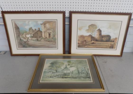 Three framed Sam Chadwick Ltd edition  prints, signed by the artist - 24 x 20 inches