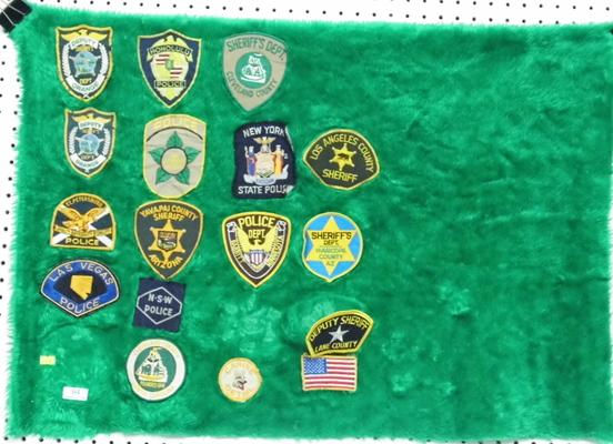 17 mixed American Law badges