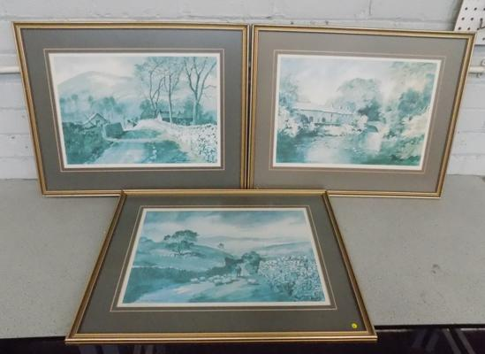 Three Sam Chadwick Ltd Edition prints signed by the artist - 24 x 20 inches