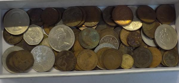 Selection of coins, incl. silver