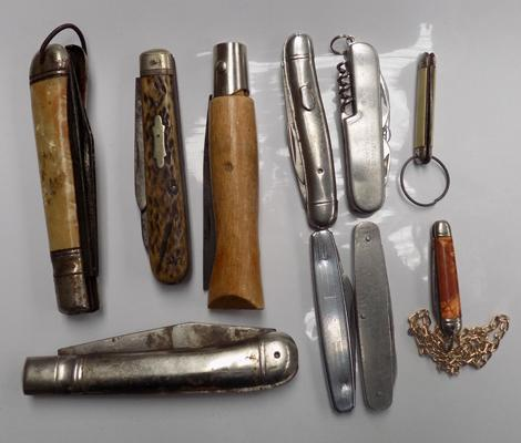 Selection of pen knives