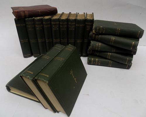17 volumes of Irish author - Charles Lever, rare first editions, circa 1870, owned and signed by H.H. Nawab Nazin of Bengal - plus one additional volume