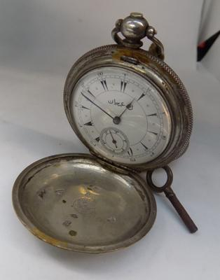 1845 silver pocket watch, Constantinople engraving & Turkish calendar face