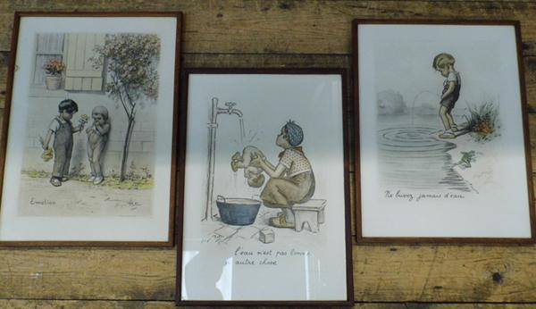 "Collectable prints by George Redon - 3 prints, each 13"" x 17"""