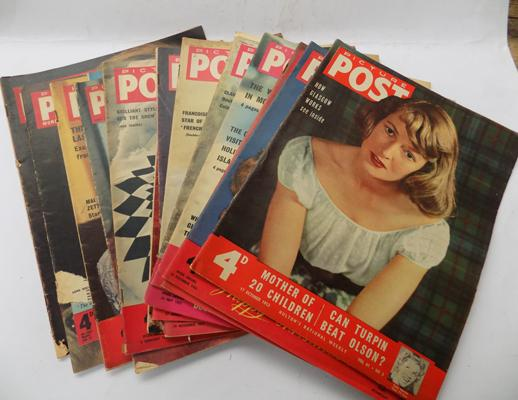 10 Colour fronted Picture Post magazines 1950's