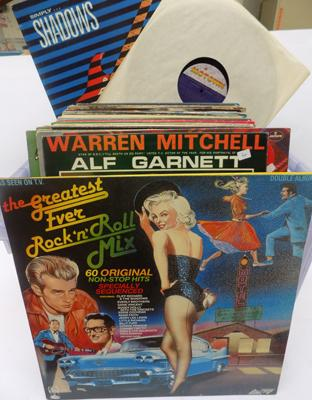 Box of mixed LPs