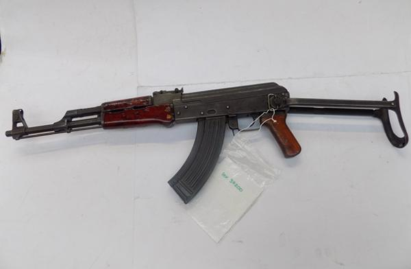 AK47 7.62 self loading rifle - serial no.17067895 with full certificate of deactivation - folding stock and 5 bullets