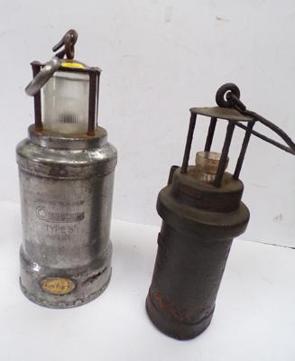 2 Electric miners lamps, circa.1930