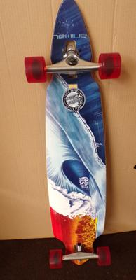 Genuine Limited Edition (No.103 of 200) ANIMAL bamboo ply long board. Signed and unused.