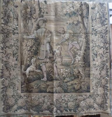 Large antique woven tapestry