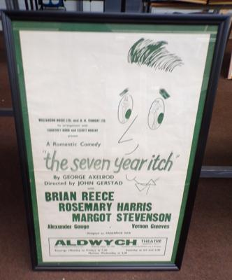 "Original 1950's theatre poster 'The Seven Year Hitch'. Framed 31"" x 21"""