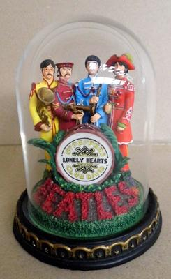 "Limited edition 'The Beatles' Sgt Pepper's Lonely Hearts Club Band bell jar - 5"" approx."