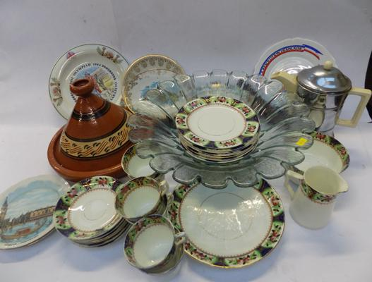 Large selection of pottery & ceramics, incl Olympic plates, vintage teaset etc...